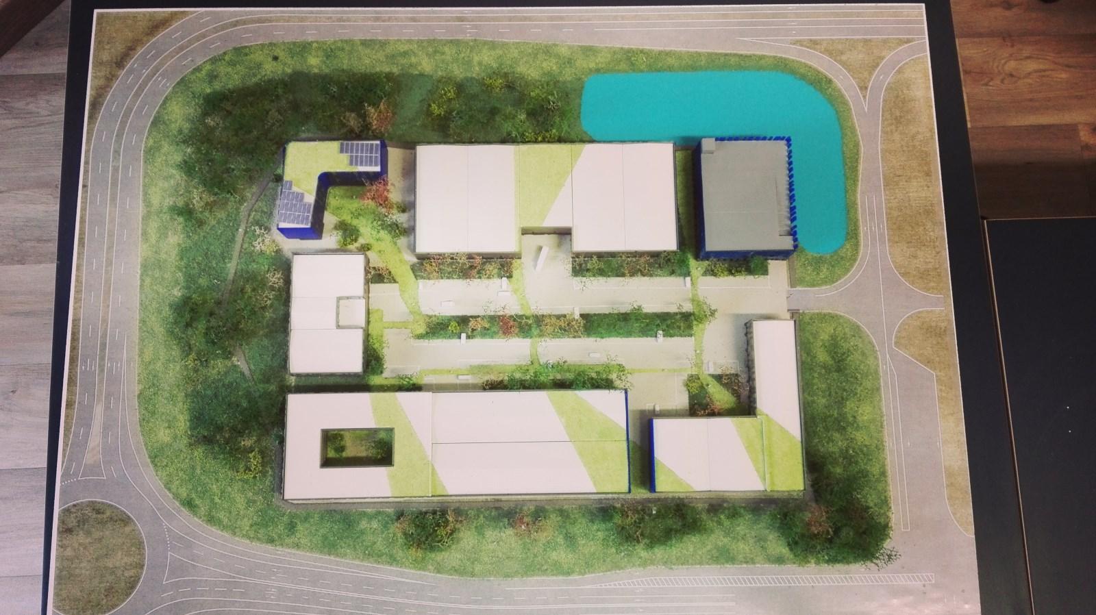 Maquette en impression 3d représentant un village d'entreprises au sein du nouveau parc des expositions de Toulouse Métropole