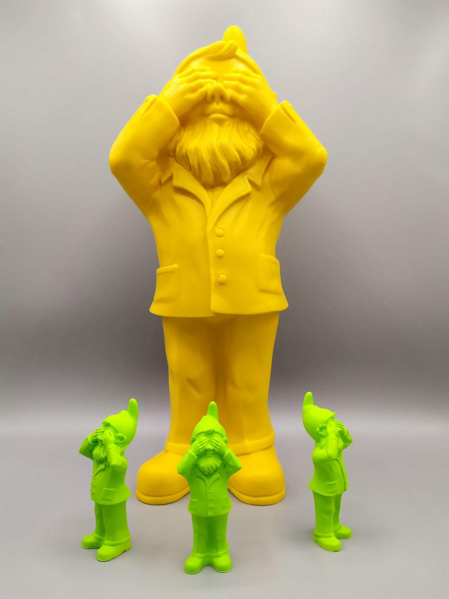 Image représentant des impressions 3D en résine après un scan 3D de la sculpture originale